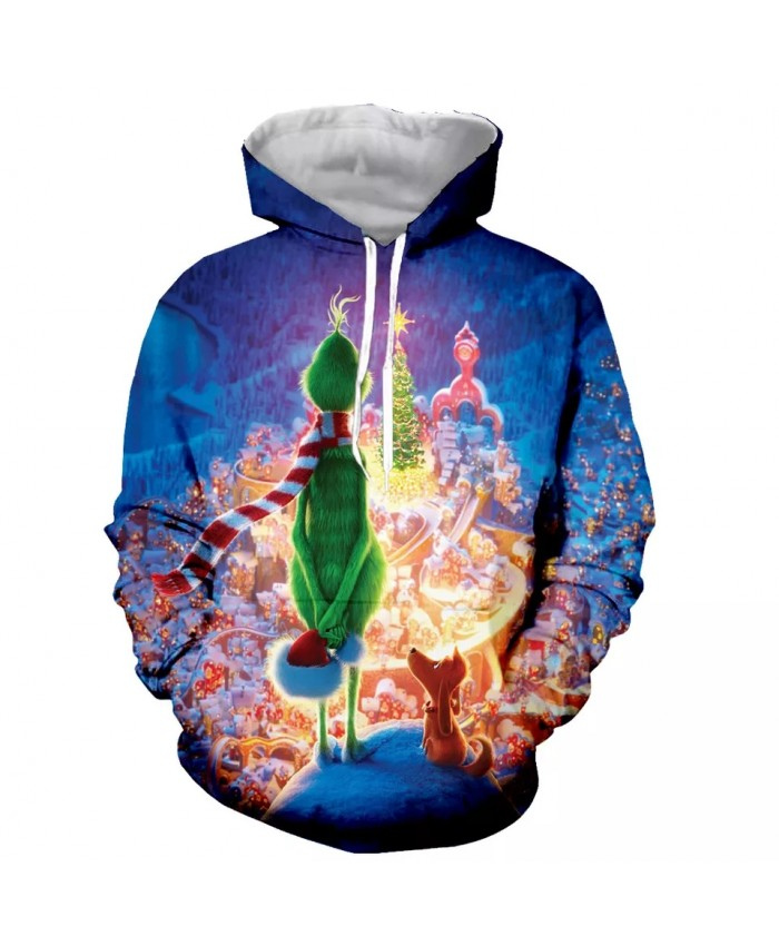 Cartoon little green man Fashion Long Sleeves 3D Print Hoodies Sweatshirts Jacket Men women