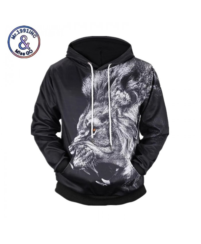 Lion 3D Print Men Women Sweatshirts Male Hoodies Funny Pullover 2021 Spring Hooded Streetwear