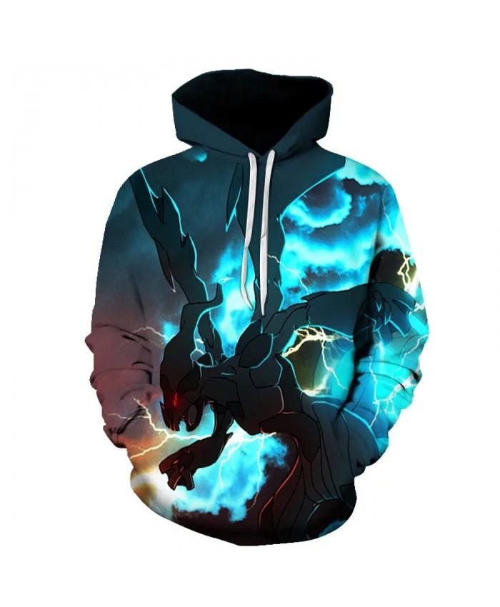 2021 new fashion men and women 3D hoodie Pokémon anime printed hoodie sweatshirt jacket unisex casual streetwear