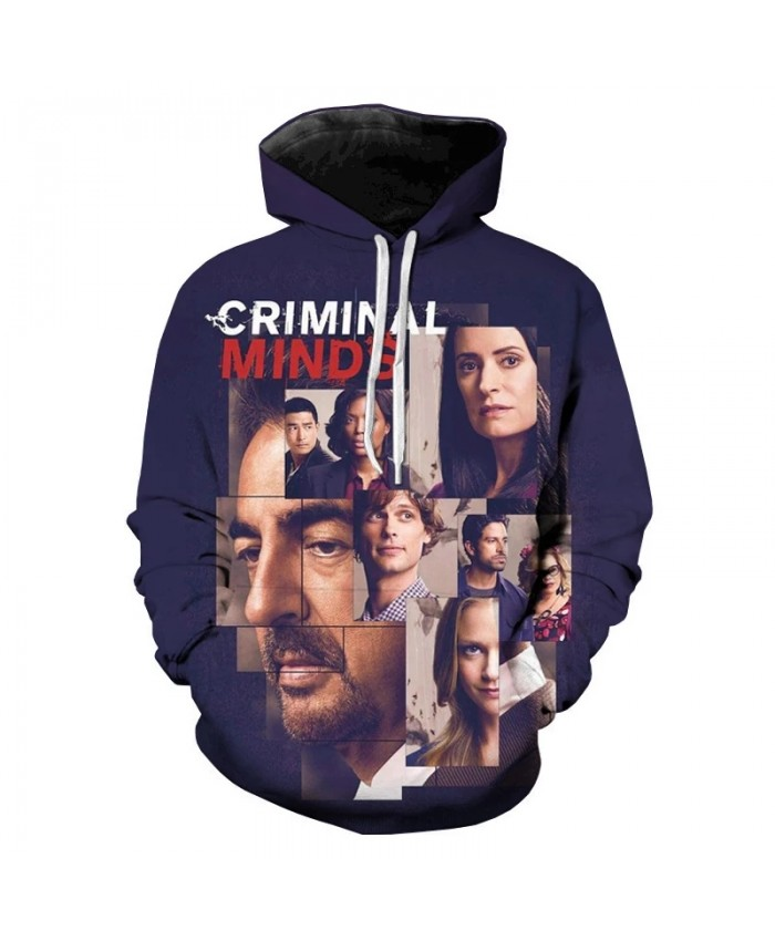 criminal minds 3D hoodies couple Hip hop long-sleeve tops clothes boys man male autumn winter Sweatshirt