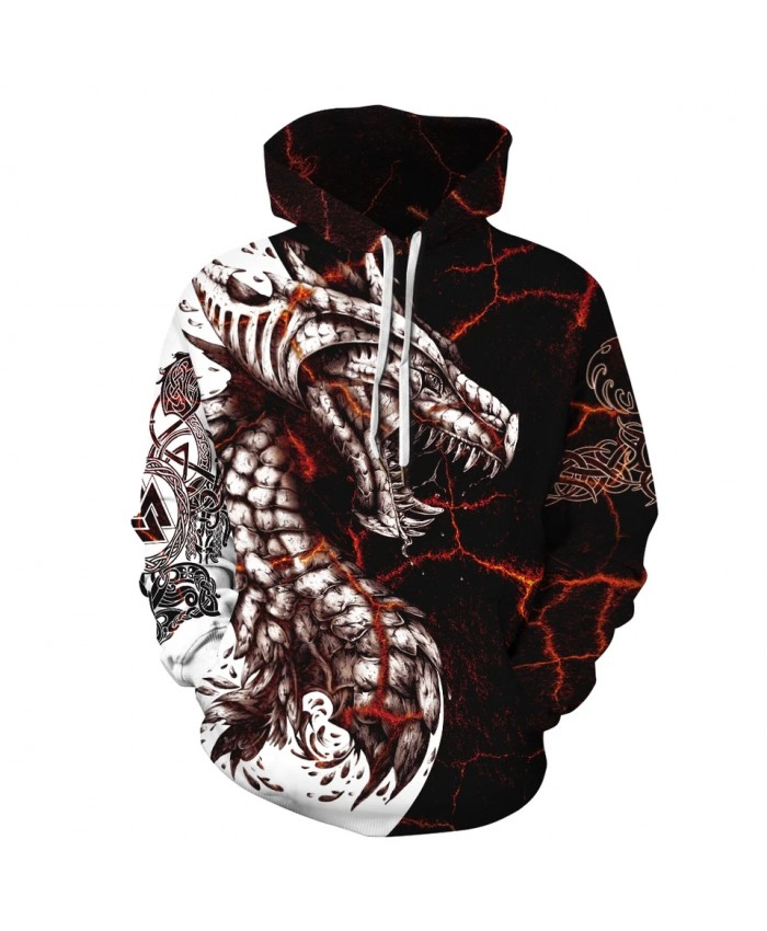 Dragon Printed Women 3D Hoodies Brand Sweatshirts Jackets Pullover Fashion Tracksuit Streetwear Hooded