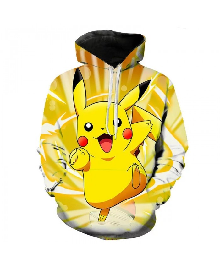 3d Printing Pokemon Cartoon Anime Men's And Women's Hoodie Fashion Children's Cute Sweatshirt Street Pullover Coat
