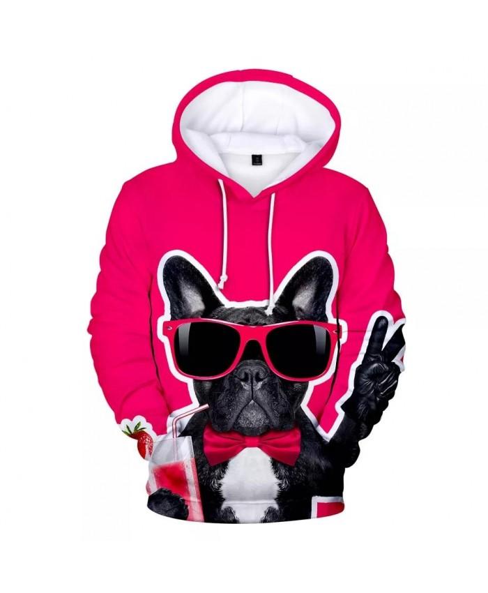 Harajuku French Bulldog Hoodies Men women Fashion Hip Hop Streetwear Pullover High Quality 3D Print French Bulldog Men's Hoodies