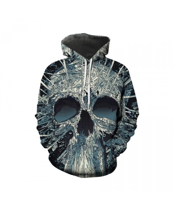 2021 Hot selling high quality men's hoodie new street style color horror skull print men's casual plus size four seasons s-6xl