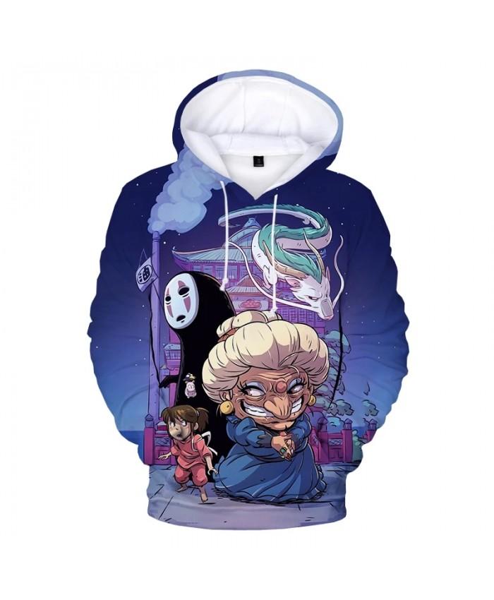 2021 Spirited Away 3D Print Hoodie Sweatshirts Kids Fashion Casual Cartoon Pullover Unisex Harajuku Streetwear Anime Hoodies