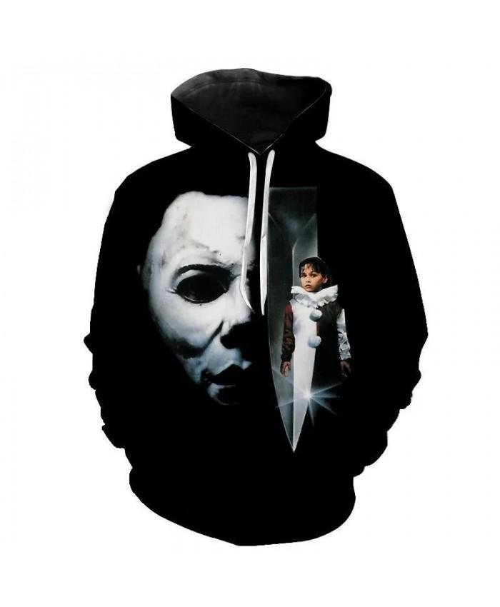 New Cool Michael Myers 3D Printed Hoodies Sweatshirts Men Women Children Streetwear Pullover Boy Girl Kids Sweatshirts Jacket