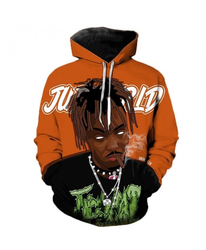 Newest Rapper Juice Wrld 3D Printed Hooded Sweatshirts Juice Wrld Memorial Pullover Men Women Hip Hop Casual Oversized Hoodies