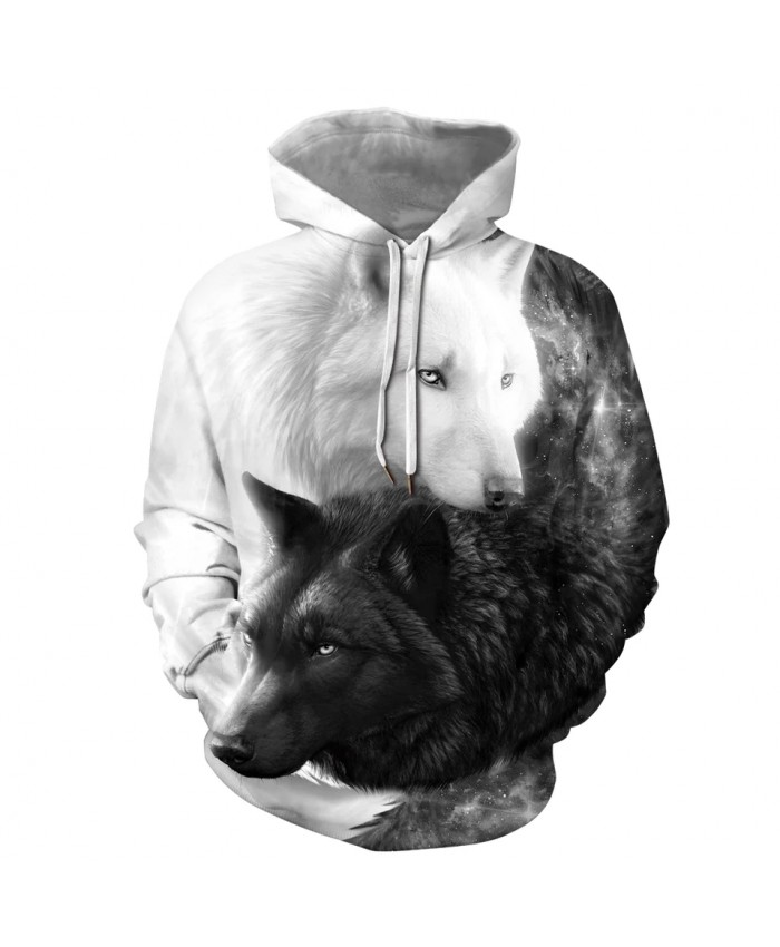 Wolf Hoodies Boy 3D Print Sweatshirts Men's Harajuku Autumn Winter Pullovers Wolf Hoodie Women