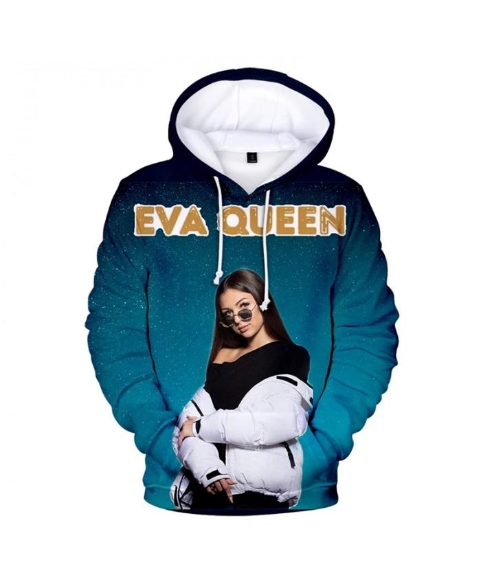 Eva Queen Hoodie Streetwear Hip Hop Casual Hoodies 3D Print Hooded Sweatshirts Pullover Men Women Fashion Long Sleeve Coats
