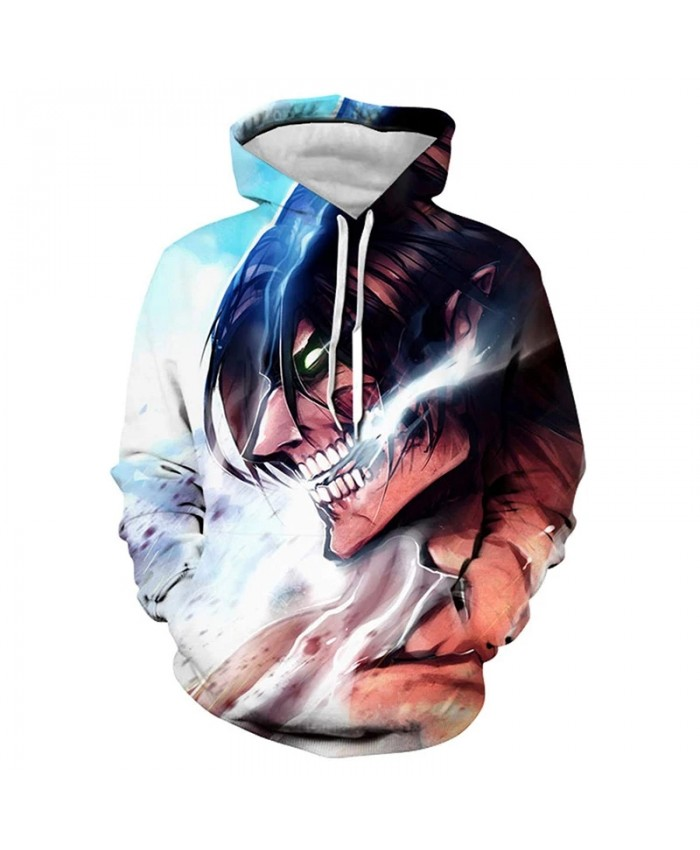 Harajuku Anime Men's And Women's Hoodie 3d Printing Attack Giant Pullover Children's Casual Fashion Street Hip Hop Sweatshirt