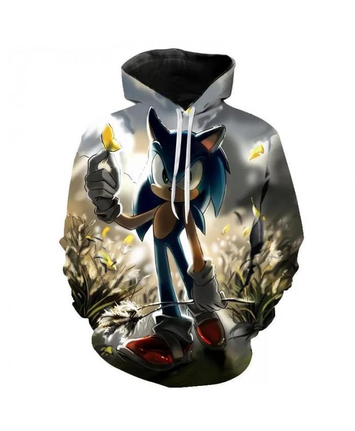 Fashion Sonic The Hedgehog Hoodies Kids 3D Hoodie Coat Boys Sweatshirts Pullovers Outerwear Girls Hoodie Jacket Streetwear Hoody