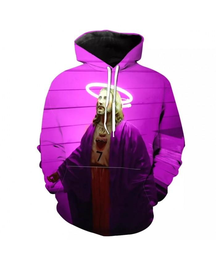 Pink 3D streetwear fashion men's casual hooded sweatshirt
