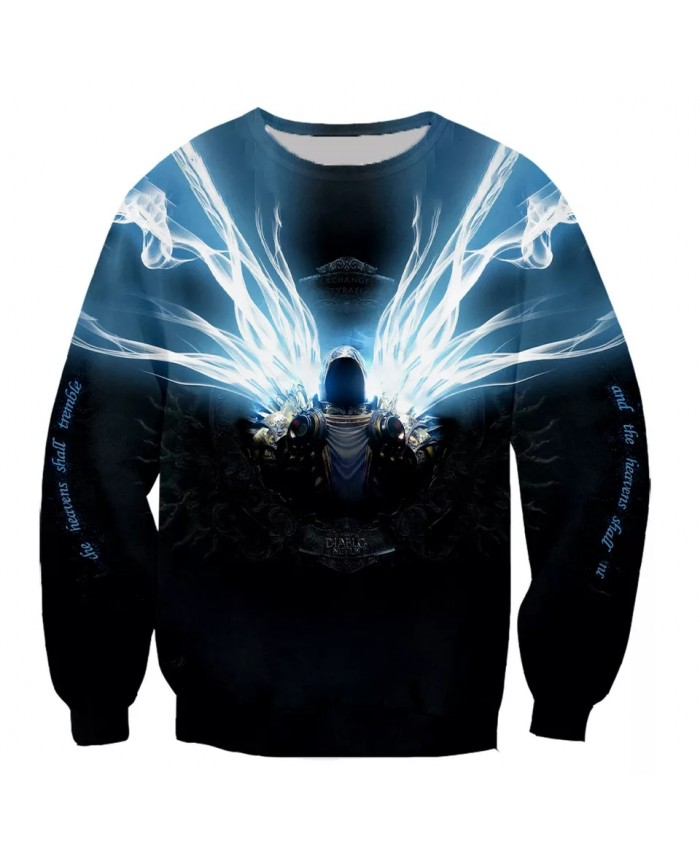 Diablo 3 Reaper of Soul Fashion Long Sleeves 3D Print Hoodies Sweatshirts Jacket Men women tops