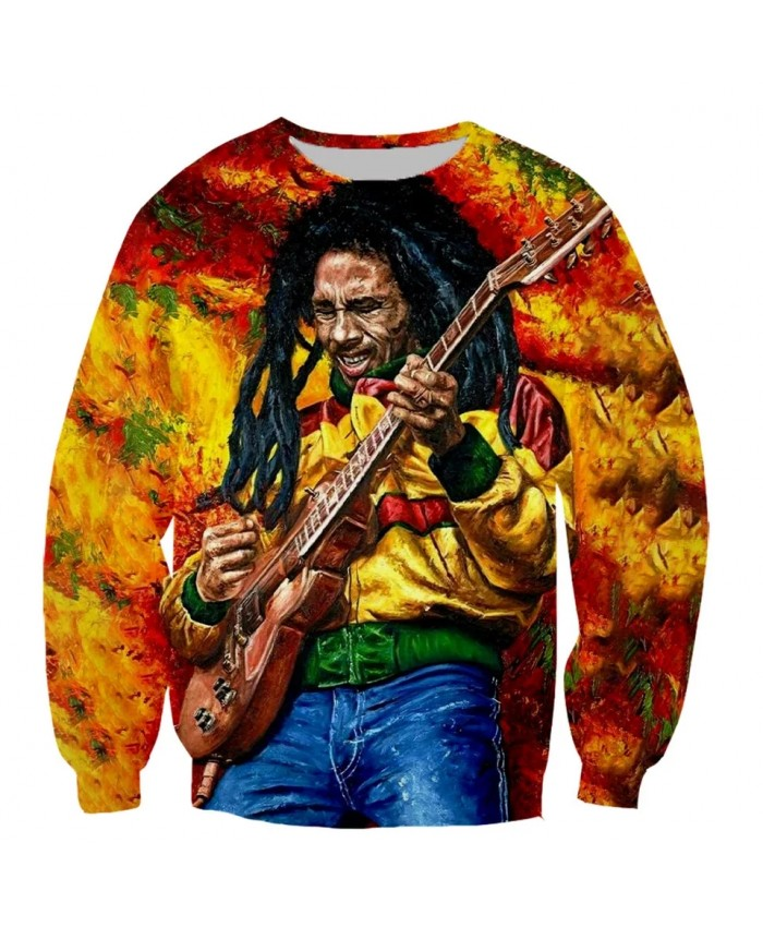 Bob Marley 3D print men women fashion cool Long Sleeves sweatshirt harajuku style street styles tops