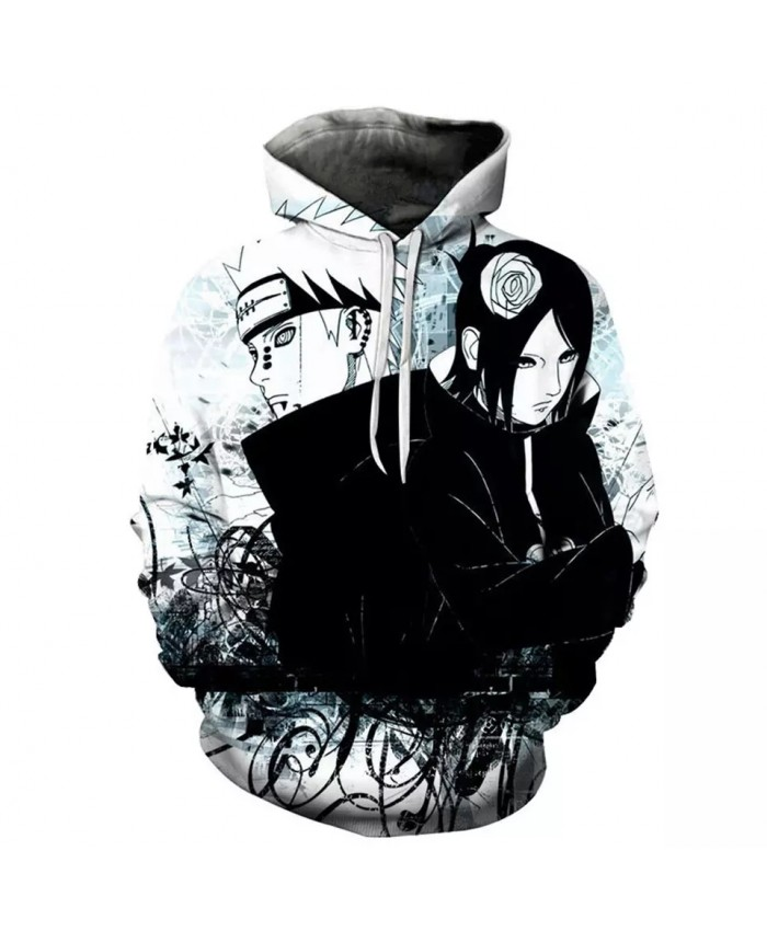 Spring And Autumn New Hot Sale Men's Women's Children's Hoodie Hip-Hop 3d Printing Sasuke Animation Casual Fashion Coat