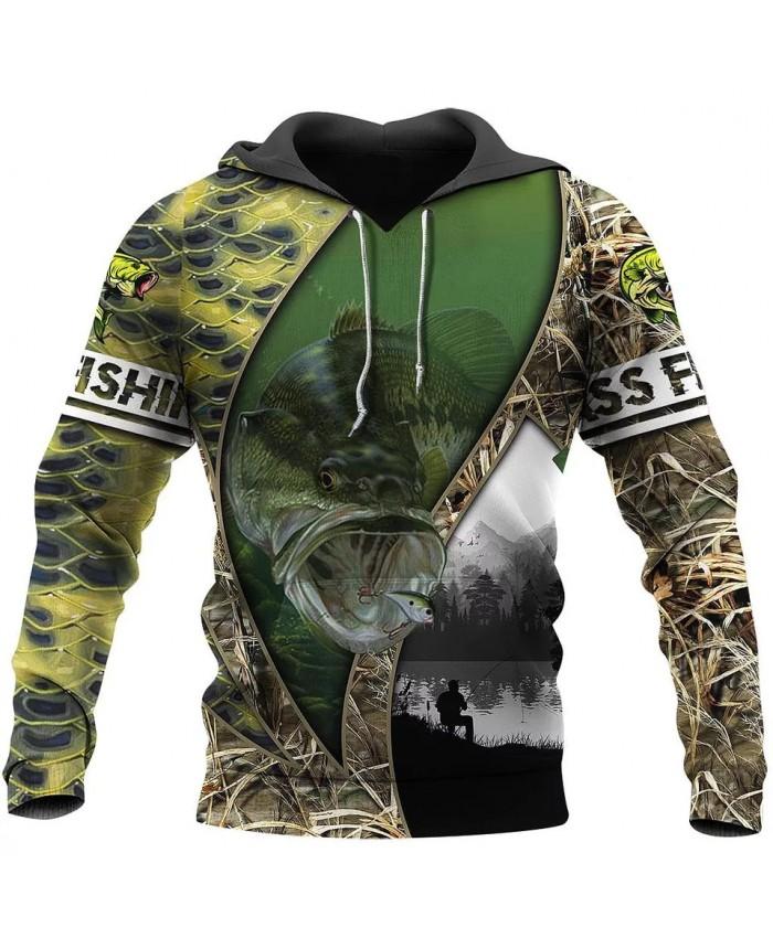 New Fashion Hoodie Walleye Fishing Series 3D Printing Sweatshirt Hoodie Zipper Hoodie Unisex Street Casual Sweatshirt NO0004