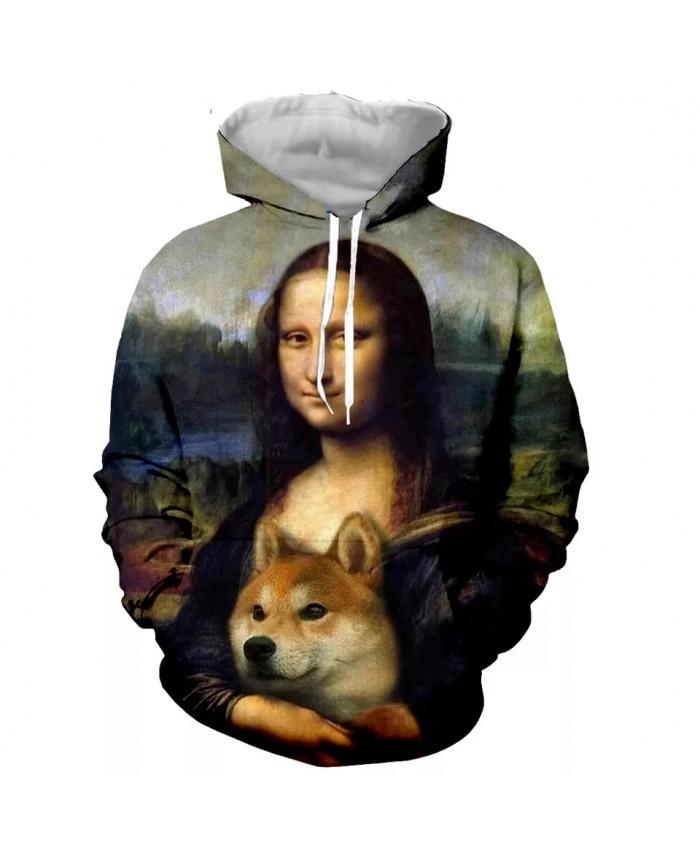 Shiba inu Fashion Long Sleeves 3D Print  Hoodies Sweatshirts Jacket Men women