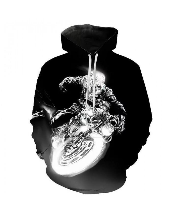 Men Women Children Skull Hoodies Fashion Autumn Ghost Rider Cool Sweatshirts 3DPrint Harajuku Streetwear Hoodie Pullover Hip Hop