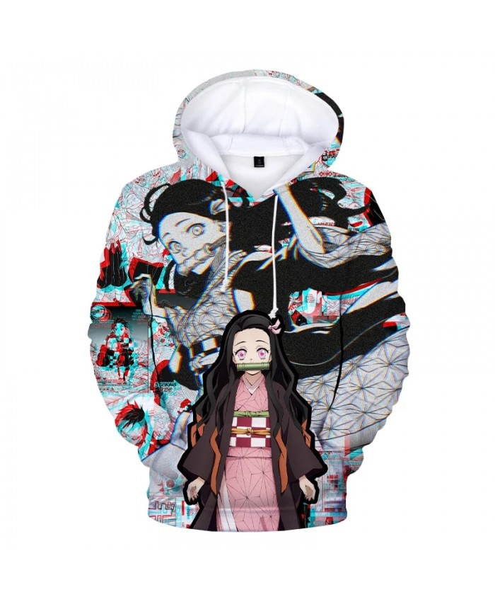 2021 Anime Demon Slayer Kamado Nezuko 3D Print Hoodie Sweatshirts Men Women Fashion Casual Pullover Harajuku Streetwear Hoodies