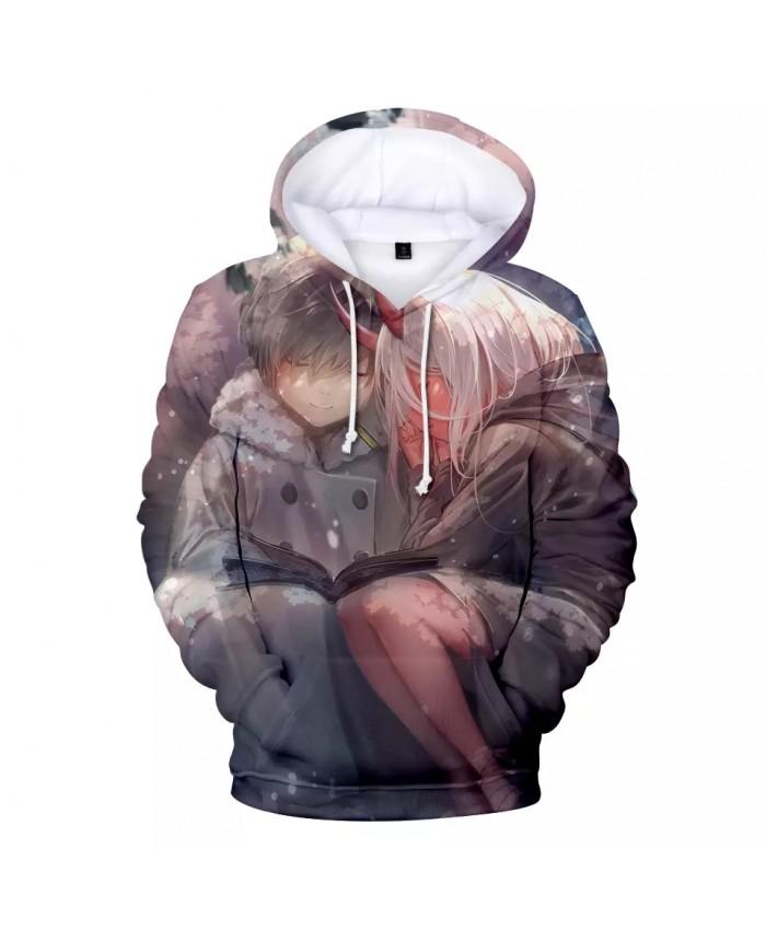 Cosplay Hoodies Darling in the franxx Winter Sweatshirt Men Women Hooded Fashion 3D Print Dear Frank Hoodies Harajuku pullovers