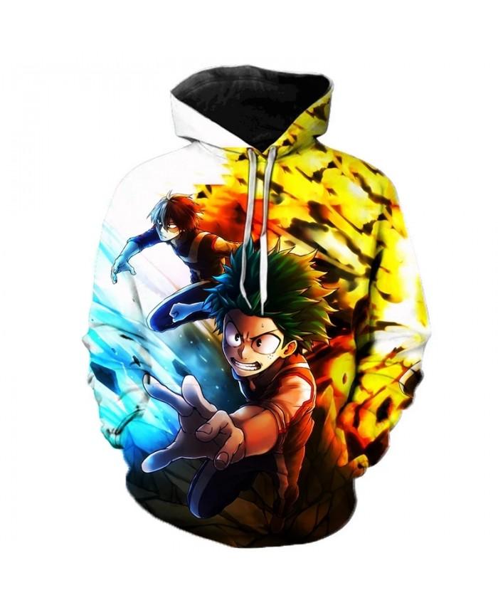 My Hero Academia Hoodie Anime Cosplay Costume Sweatshirts 3D Printed Anime Oversized Pullover Men Women Fashion Casual Hoodies