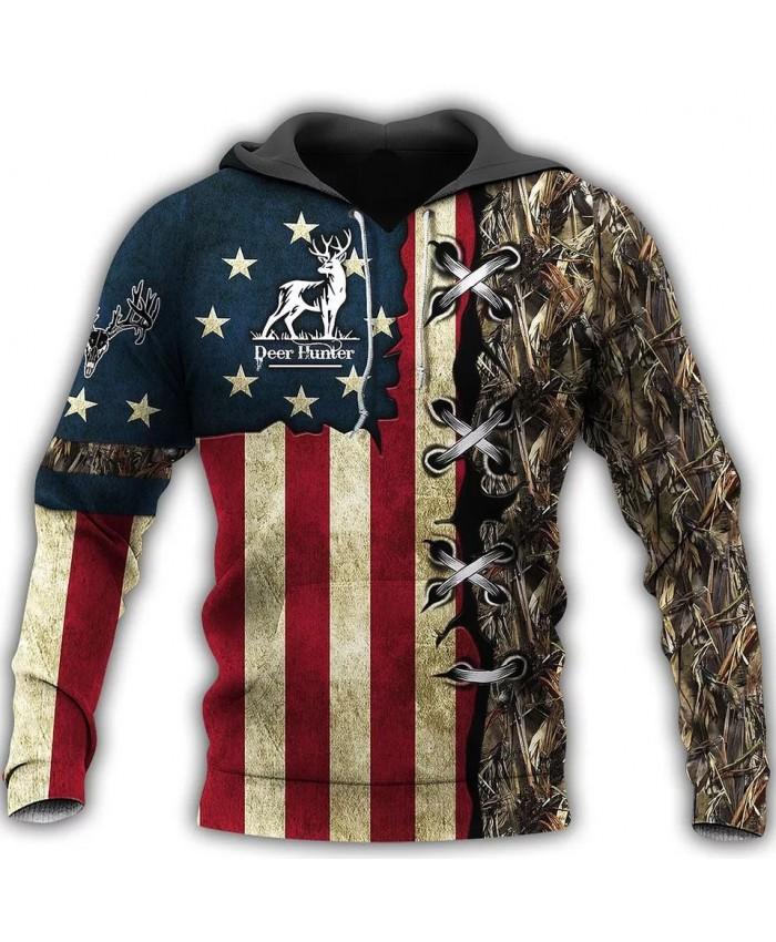 Fashion hoodie hunting camouflage 3D printed casual sweatshirt hoodie zipper hoodie fashion unisex street casual sweatshirt