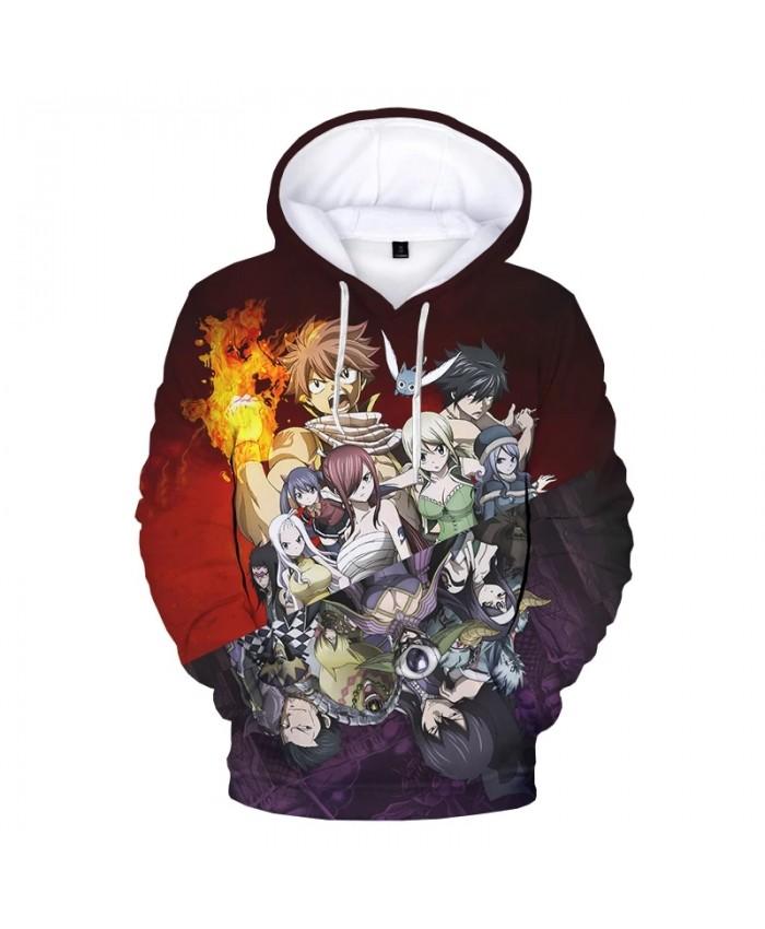 2021 New Fairy Tail 3D Print Hoodie Sweatshirts Men Women Fashion Casual Cartoon Pullover Harajuku Streetwear Anime Hoodies