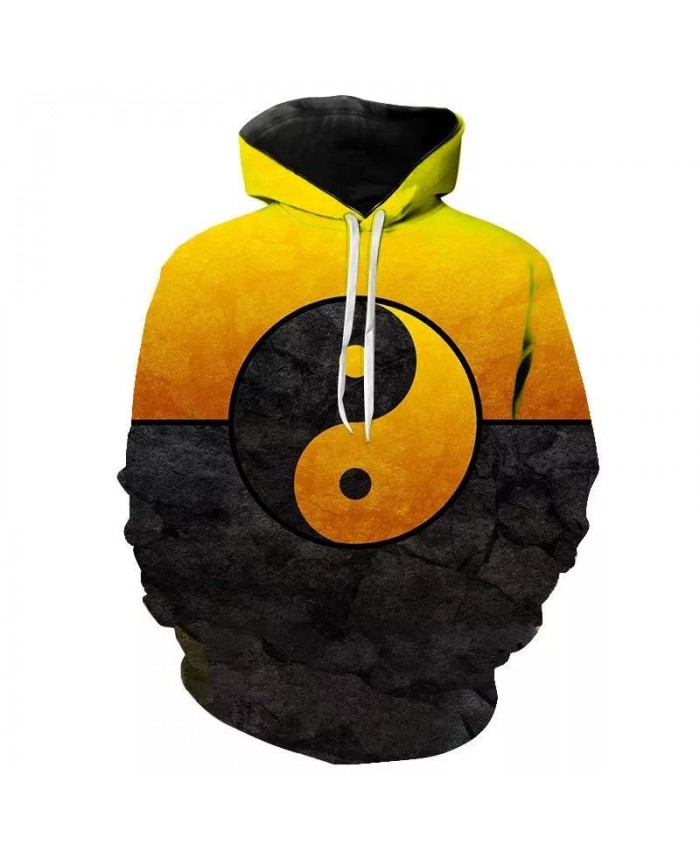 Autumn And Winter New Men's Women's Children's Hoodies 3d Printed Fashion Chinese Elements Tai Chi Sweatshirt Tops