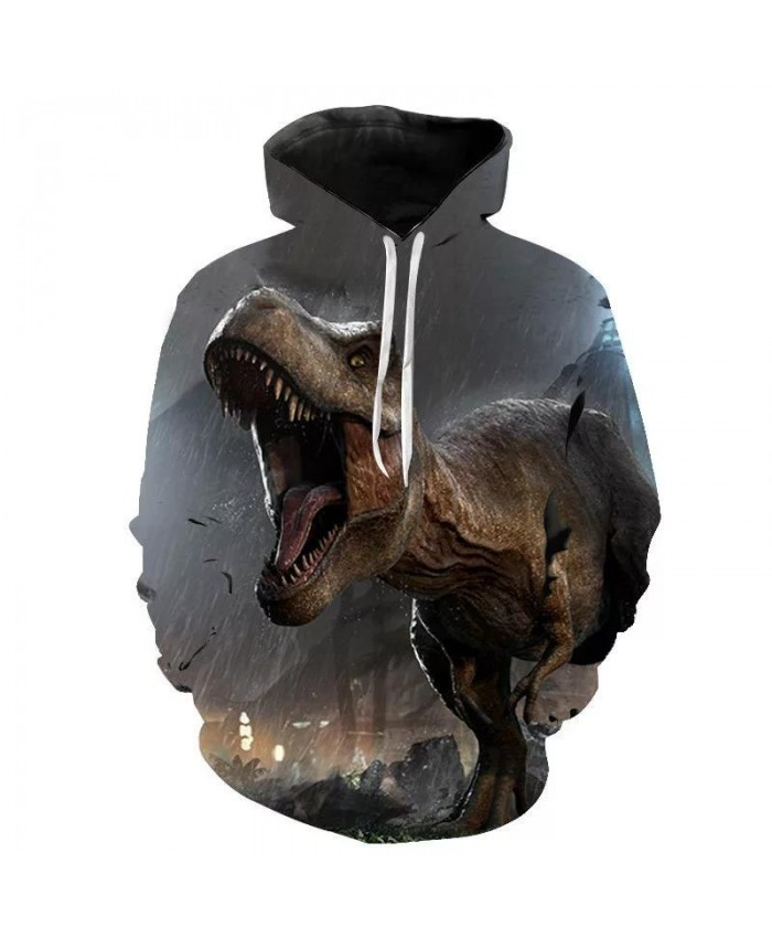 2021 New Jurassic Park Velociraptor Dinosaur Men Women 3Dprinted Hoodies Fashion Pullover Animal Hoodie Funny Sweatshirts Hip Hop