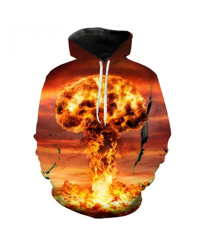 Spring And Fall Men Women Children Atomic Bomb Explosion 3D Printed Hoodies Pullover Streetwear Boy Girl Kids Sweatshirts Anime