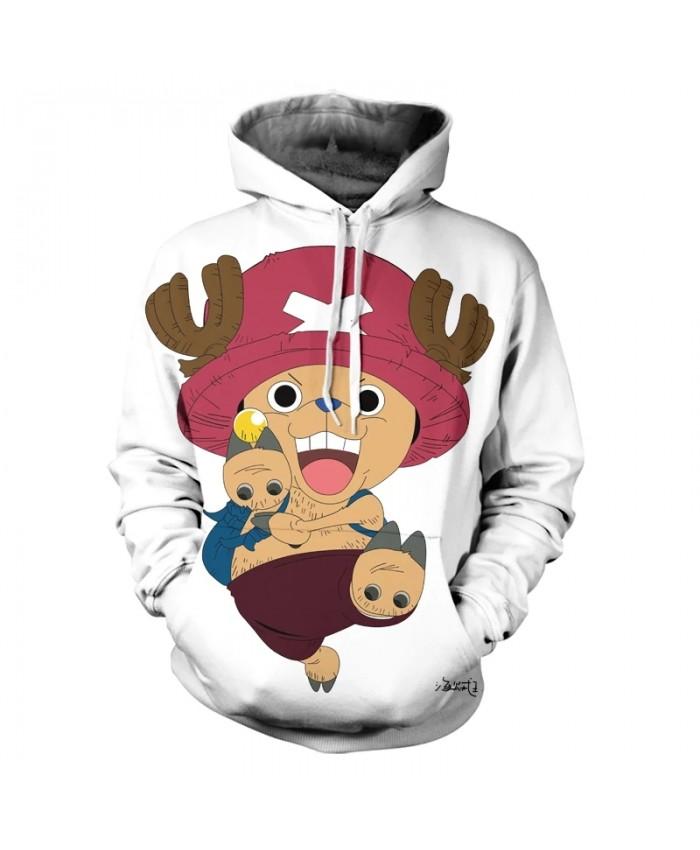 2021 Fall/Winter New Men's And Women's Hoodie Kids 3d Printing Cute Cartoon Anime One Piece Wweatshirt Casual Coat