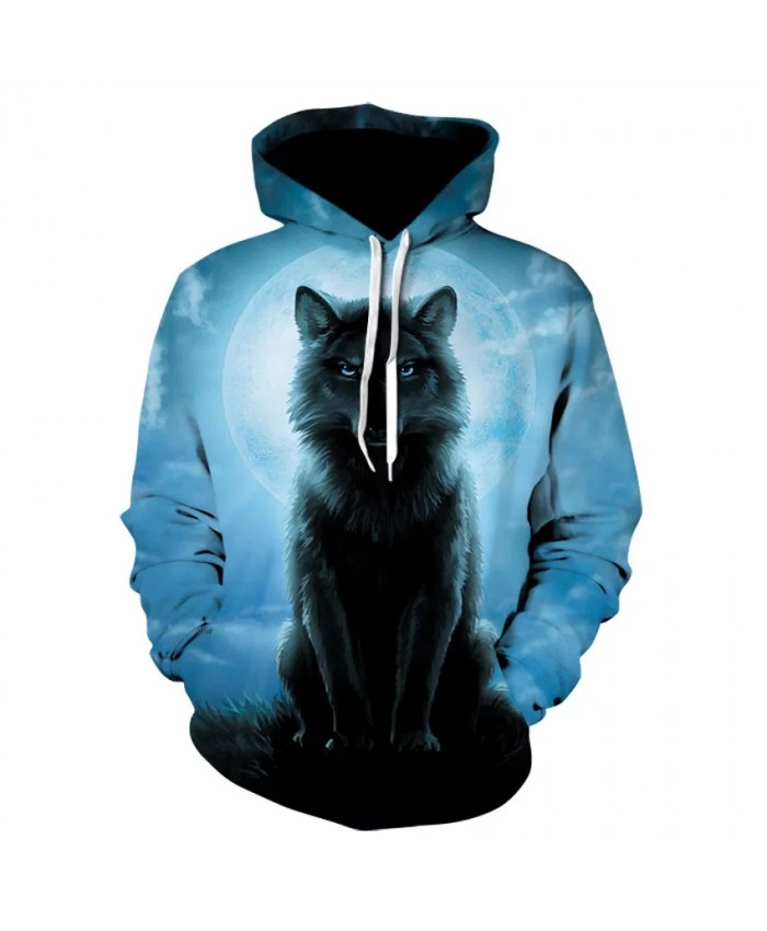 2021 Starry Sky Cat Hoodie Men And Women 3d Printing Wolf Head Sweatshirt Harajuku Fashion Casual Street Pullover Hot Coat
