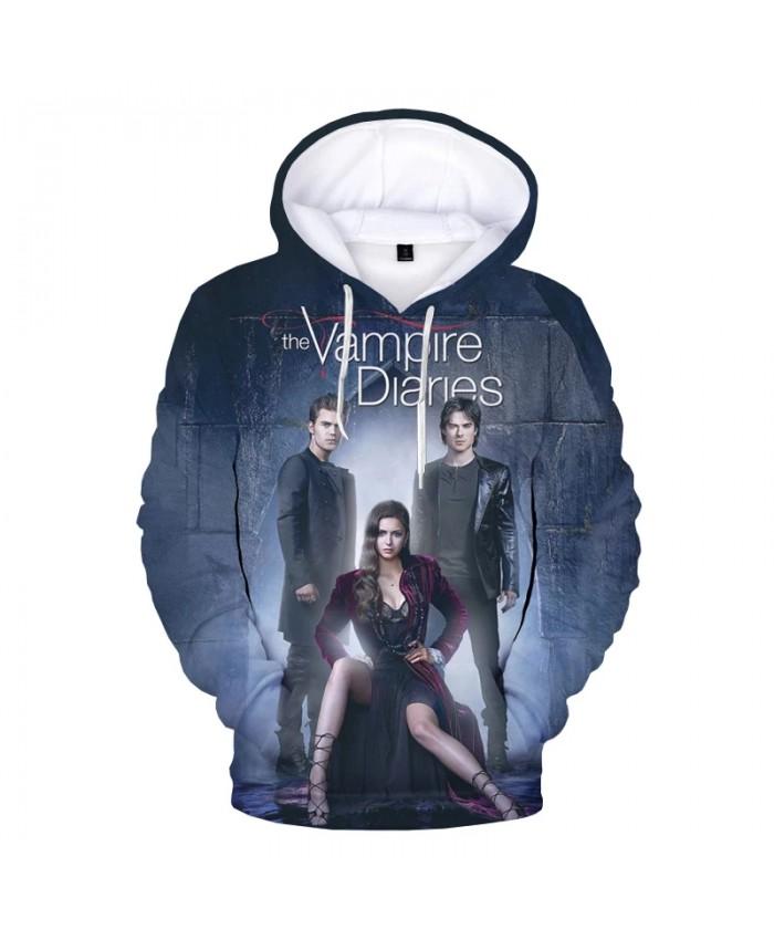 The Vampire Diaries TV Series 3D Print Hoodie Sweatshirts Harajuku Oversized Hoodies Men Women Cool Casual Pullover
