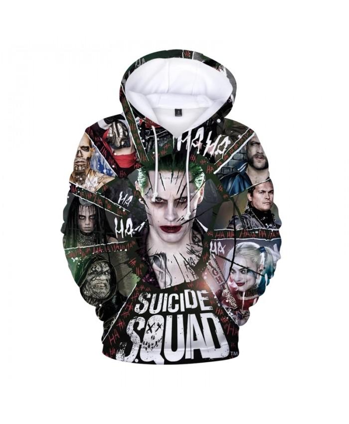 Suicide Squad 3D Printed Hooded Hoodies Loose Hoodie Women Men Streetwear Pullover Long Sweatshirt Spring Autumn Hoody Mens Tops