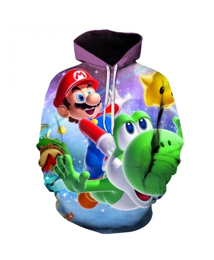 Super Mario Odyssey 3D Printed Hoodies Mario Bros Men Women Streetwear Sweatshirt harajuku fortniter Hoodie Boys Teenager Jacket