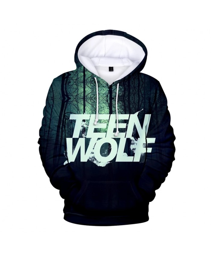 Hot TV series TEEN WOLF 3D Hoodies Men women Fashion Hip Hop Harajuku Kids Hooded TEEN WOLF 3D Men's Hoodies and Sweatshirt