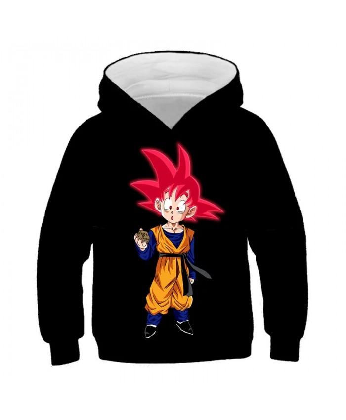 2021 New Fashion 3D Anime Dragon Z Hoodie Kids Sweatshirt Kid Goku And Master Roshi 3d Print Boy Girl Clothes Pullover