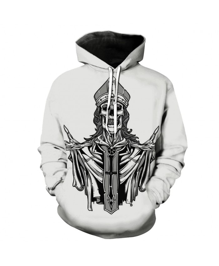Men's Fashion 3D Hoodie Skull Lord Print sweatshirt