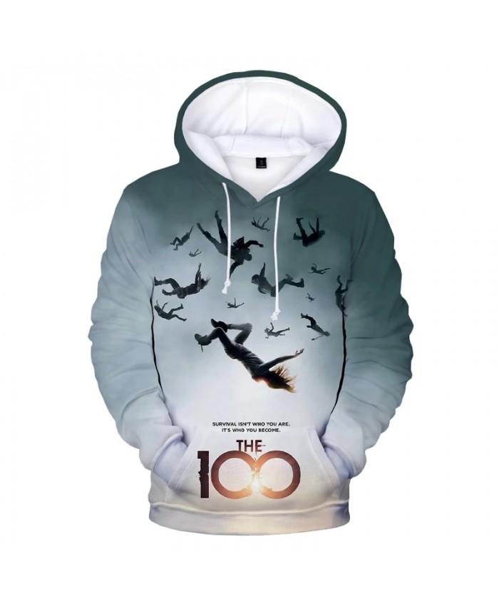 The 100 Hoodie 2021 TV Series Harajuku Streetwear 3D Print Hoodies Men Women Autumn Fashion Casual Hoodie Sweatshirts