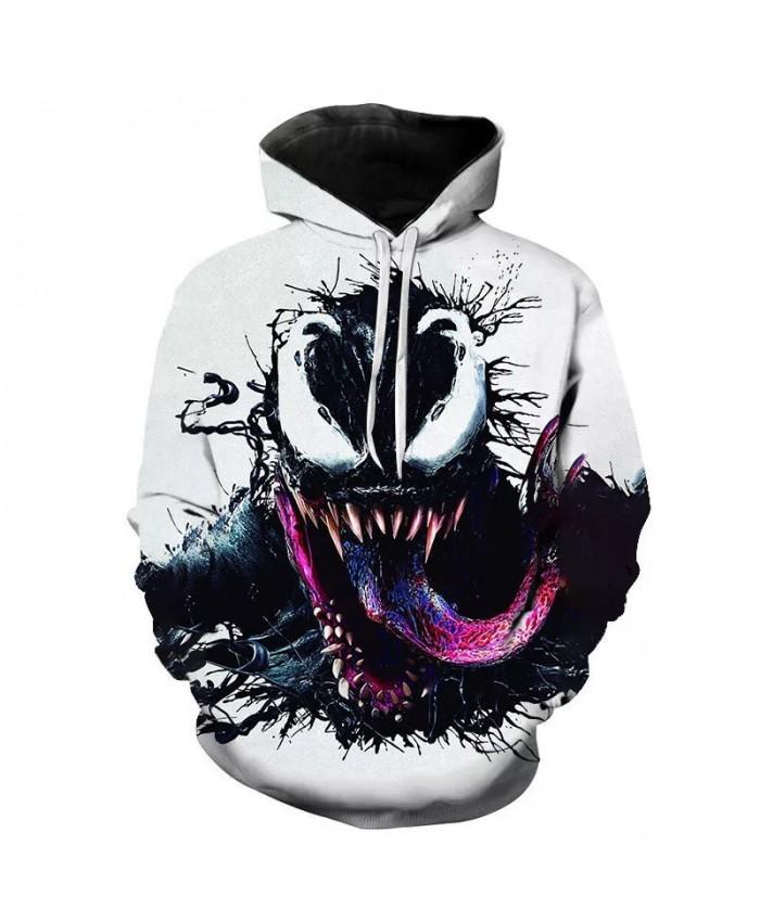 2021 New Autumn Venom Hoodie Men's Women's Children's Fashion Casual Sweatshirt 3d Print Pullover Street Hip Hop Harajuku Coat