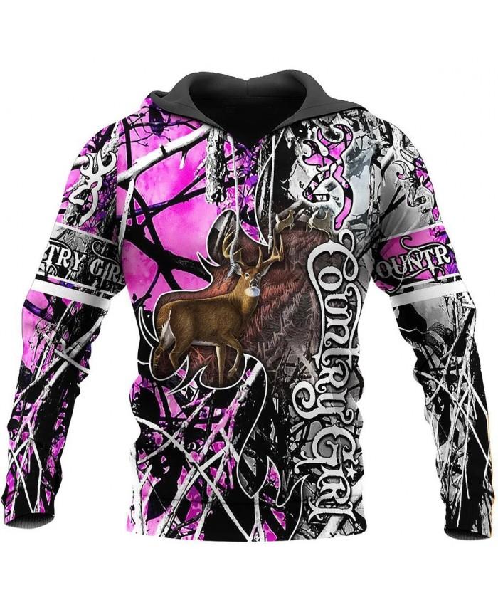 New unisex casual sweatshirt hunting deer camouflage 3D printed sweatshirt hoodie zipper hoodie fun street casual sweatshirt NO2