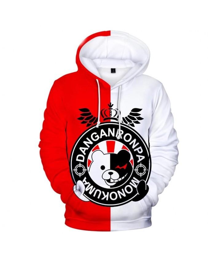 New 3D monokuma boys girls fashion hoodies men women Hot Autumn Hoodie sweatshirts 3D casual children red and white pullovers