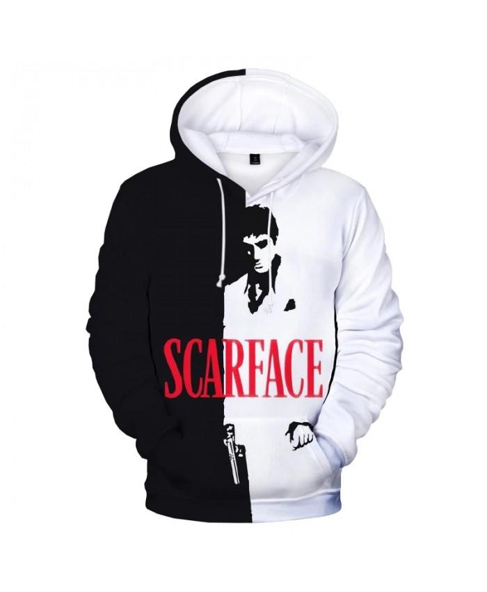 Movie Scarface 3D Print Hoodie Sweatshirts Tony Montana Print Harajuku Streetwear Hoodies Men Women Fashion Casual Cool Pullover