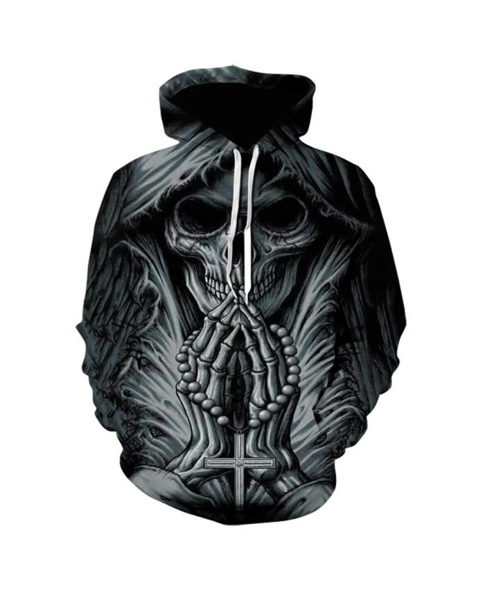 2021 New Arrive 3D Printed grim reaper skull tattoo Hoodies Men Women Fashion Autumn Sportswear Hooded Sweatshirt Dropship