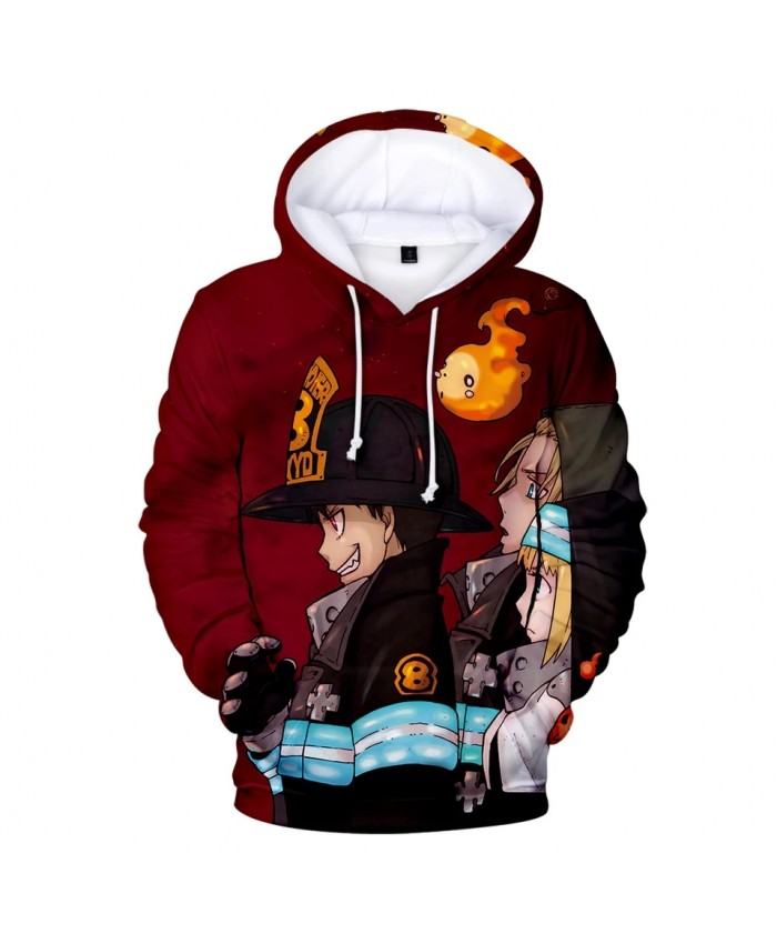 Fire Force Printing Pullover Hoodie Men Women Winter Fashion Casual Harajuku Soft Hoody Hot Sale Fire Force Hoodies Men Coat