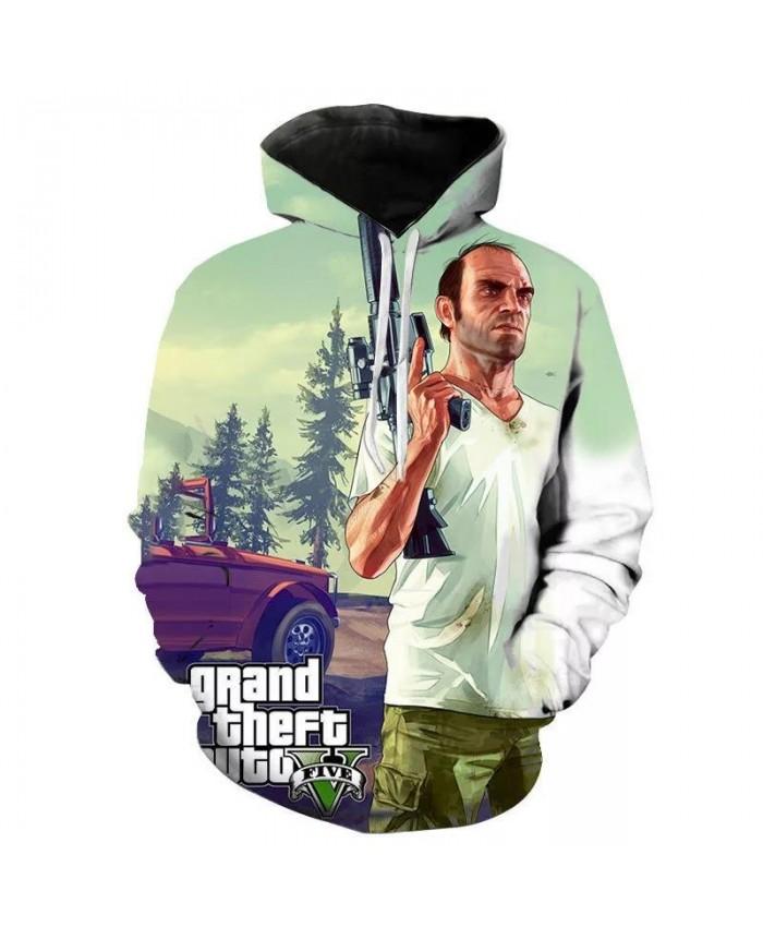 Grand Theft Auto 3D 2021 fun GTA 5 Fancy hoodies Long Sleeve Street Style hooed jacket High Quality Unisex gta5 game sweatshirt