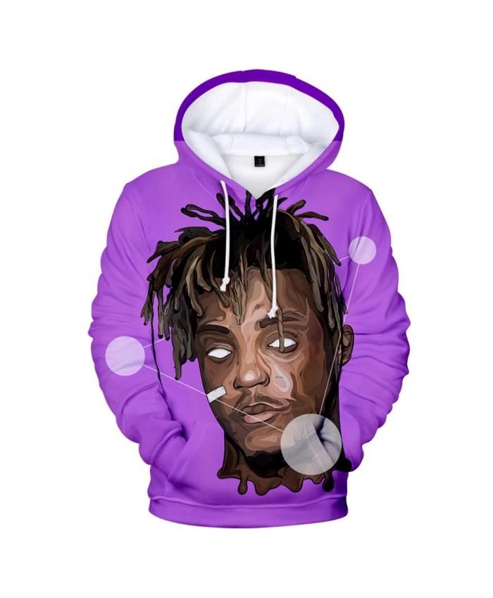 Purple Hoodie 3D Juice WRLD Hoodies Men Sweatshirts Women Harajuku Kids Pullover Suitable 3D Juice WRLD boys girls Casual Hooded