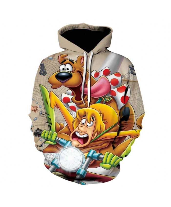 Cartoon Scooby Doo 3d Printed Hoodie Anime Fashion Hoodies Casual Men Clothing HoodedPullover Harajuku Sweatshirt Cool Jacket