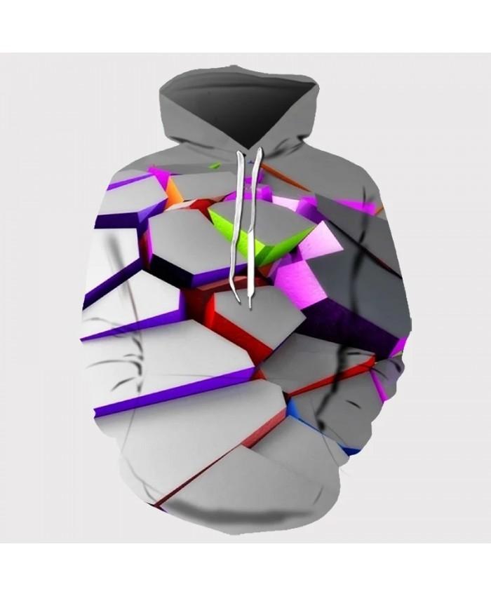 Europe and America Men Women Hoodies With Hat Hoody Print Color Blocks Autumn Winter 3D Sweatshirts Hooded Hood Tops Wholesale