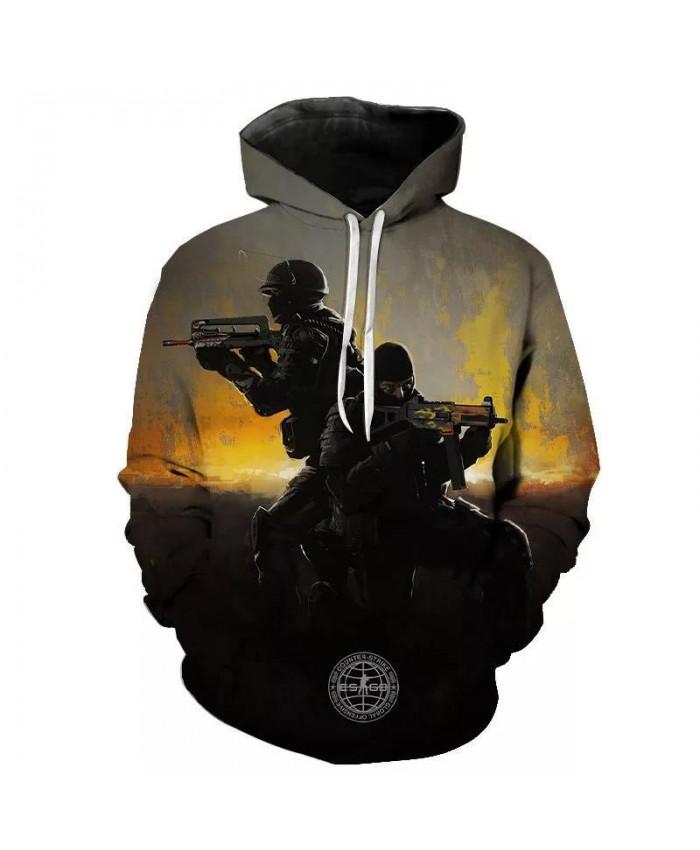 CS GO Game Cosplay Print Hoodies Fashion Streetwear 2021 New Arrival Spring Sweatshirt For Men Harajuku Hip Hop Punk Pullover